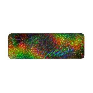Shining Lights Holographic Glitter Rainbows Return Address Label