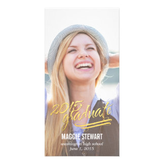 Shining Moment Graduation Announcement Photo Greeting Card