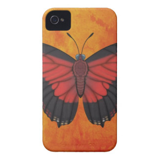 Shining Red Charaxes Butterfly iPhone 4 Cover