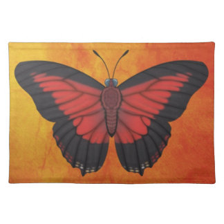 Shining Red Charaxes Butterfly Placemat