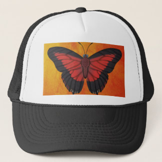 Shining Red Charaxes Butterfly Trucker Hat