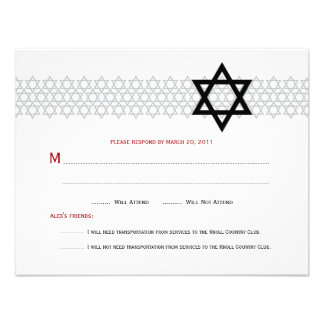 Shining Star Bar Mitzvah RSVP Custom Announcements