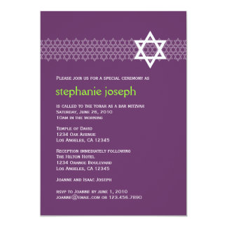 Shining Star Bat Mitzvah Invitation