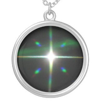 Shining Star Cross Silver Plated Necklace