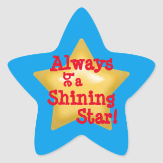 Shining Star Star Sticker