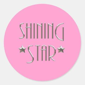Shining Star Round Sticker