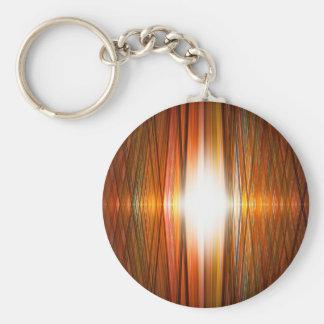 Shining starburst grid keychain