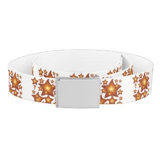 Shining Starfish bright orange design Belt