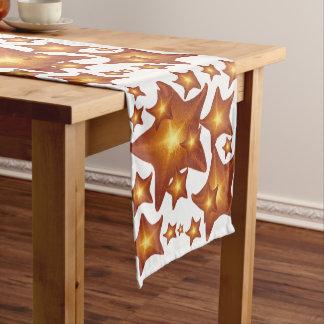 Shining Starfish bright orange design Medium Table Runner
