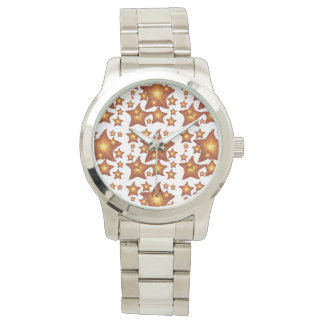 Shining Starfish - monogram orange design Watches