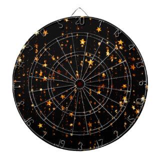 shining stars gold dartboard