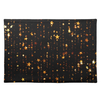 shining stars gold placemat