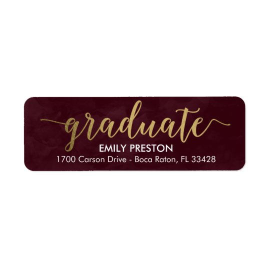 Shining Strong Editable Colour Graduation Label