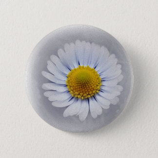 shining white daisy 2 inch round button