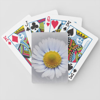 shining white daisy bicycle playing cards