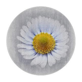 shining white daisy cutting board