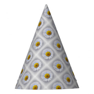 shining white daisy party hat