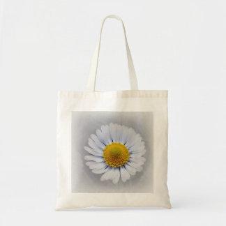 shining white daisy tote bag