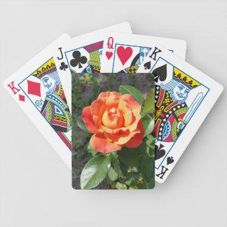 shining yellow rose bicycle playing cards