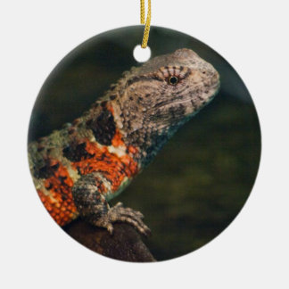 Shinisaurus crocodilurus ceramic ornament