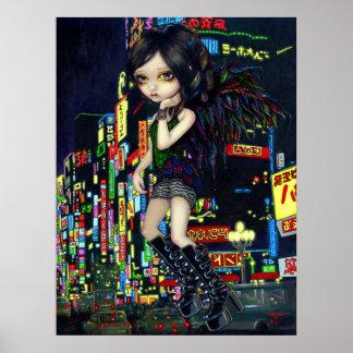 Shinjuku Angel ART PRINT gothic Japan fairy tokyo