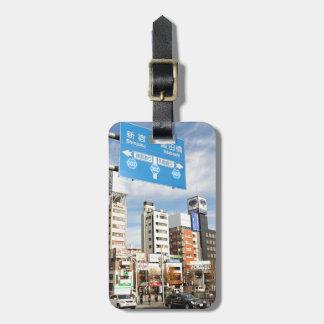 Shinjuku district in Tokyo, Japan Bag Tag