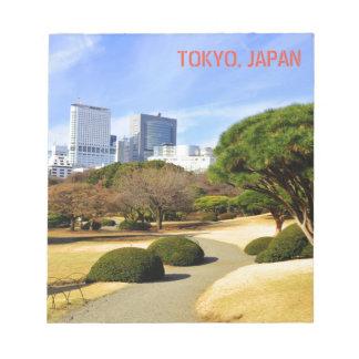 Shinjuku Gyoen National Garden in Tokyo, Japan Notepad