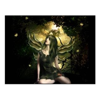 Shinning Butterfly Fairy Postcard