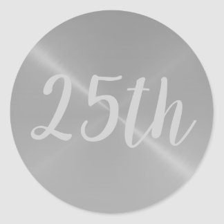 shinning silver look -25th classic round sticker