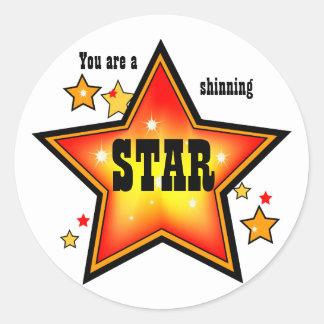 Shinning Star Award Sticker