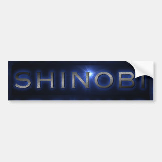 Shinobi Blue Sun Burst Bumper Sticker