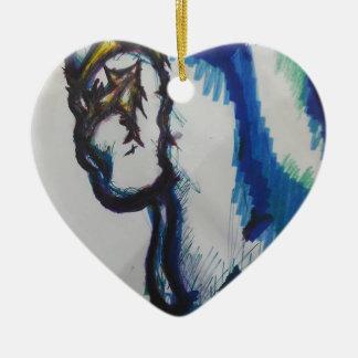 Shinobi Nobungana Jubuki Ceramic Heart Ornament