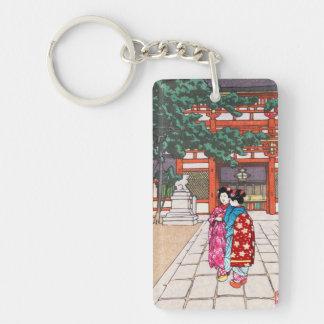 Shinto and its Architecture, Yasaka Shrine Kyoto Double-Sided Rectangular Acrylic Keychain