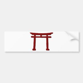 Shinto Gate Bumper Sticker