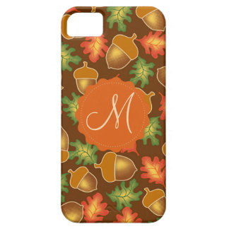 Shiny autumn atmosphere with acorns and oak leaf iPhone 5 cases