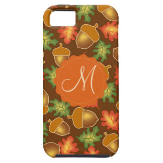 Shiny autumn atmosphere with acorns and oak leaf iPhone 5 covers
