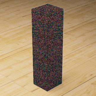 Shiny Bedazzled Flecks-WINE GIFT BOX Wine Bottle Box