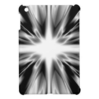 Shiny black and white star iPad mini case