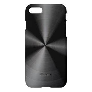 Shiny Black Stainless Steel iPhone 7 Case