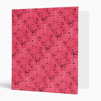 Shiny Bling Metallic Ruby Red Diamonds 3 Ring Binder