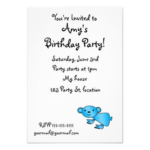 Shiny blue koala custom invite