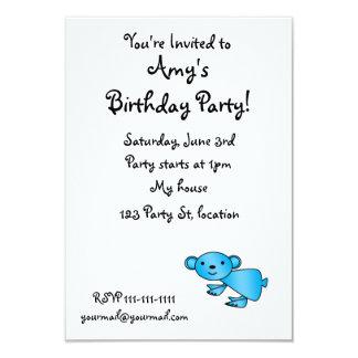 """Shiny blue koala 3.5"""" x 5"""" invitation card"""