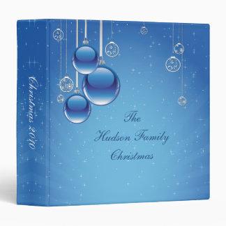 Shiny Blue Ornaments Star Background Photo Album Vinyl Binders