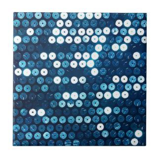 shiny blue sequins tiles