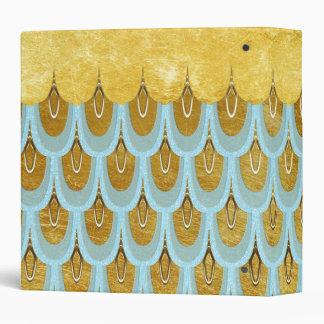 Shiny Blue Teal Glitter Mermaid Fish Scales Vinyl Binder