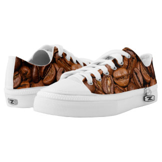 Shiny brown coffee beans Low-Top sneakers