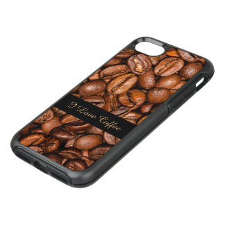 Shiny brown coffee beans OtterBox symmetry iPhone 7 case