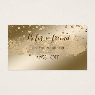 Shiny,Brush Stroke,Confetti   Referral Card