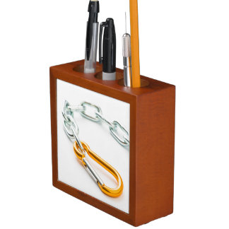 Shiny Chain Clip, Gold and Silver Colors Pencil/Pen Holder
