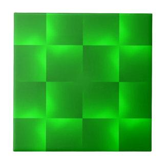 shiny checks green tile